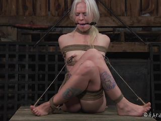 tied and tortured blonde cutie