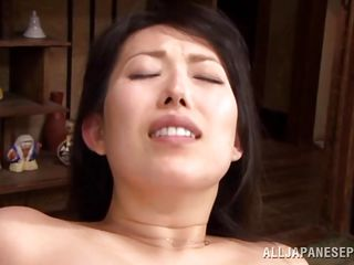 mature asian slut takes on three cocks