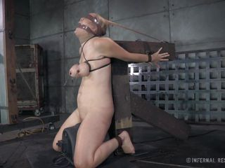 blonde bitch subjected to terrible restraints