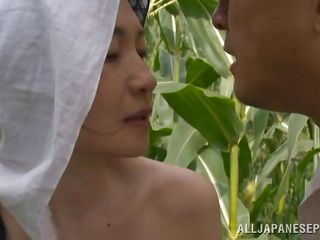 japanese peasant couple fuck in the field