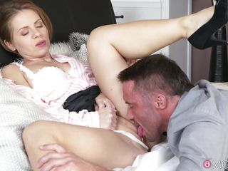 lovely milf enjoys sucking big, meaty dick
