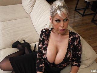 busty latina gets fucked hard as her cuckold husband watches