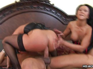 mature ladies enjoying a threesome anal pounding