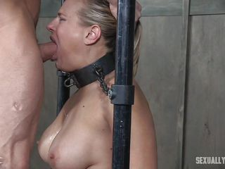 angel likes taking dicks all the way down her throat