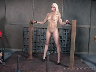helpless blonde milf getting punished real hard